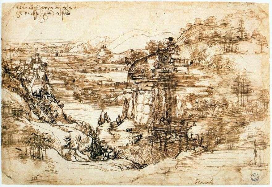 أرنو المناظر الطبيعية   ليوناردو دا فينشي