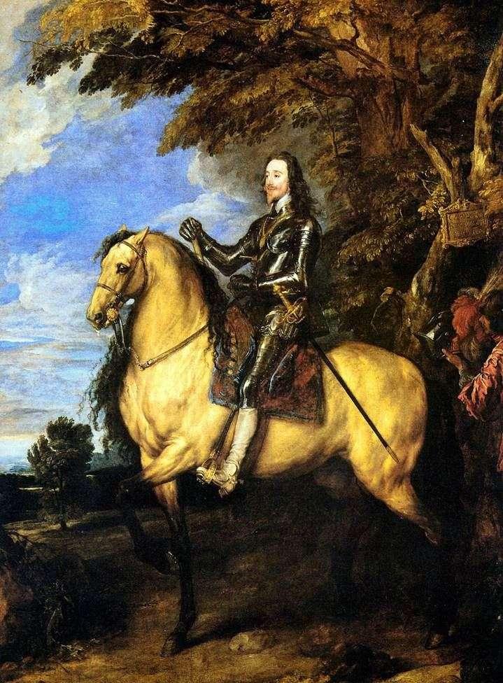 صورة الفروسية لتشارلز الأول   أنتوني فان دايك