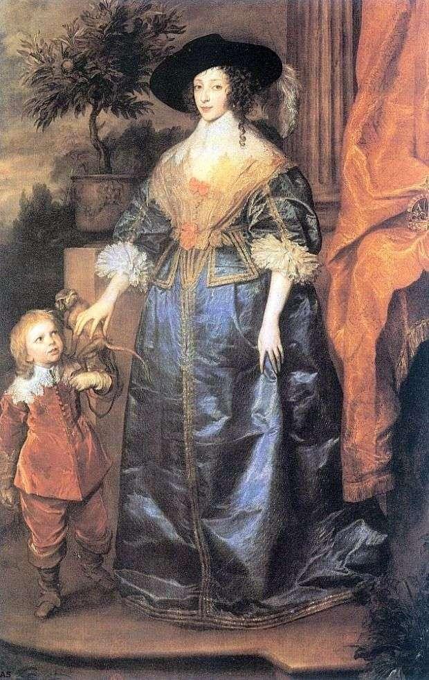 الملكة هنريتا ماريا والسيد جيفري هدسون   أنتوني فان دايك