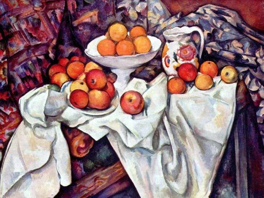 لا تزال الحياة مع التفاح والبرتقال   بول سيزان