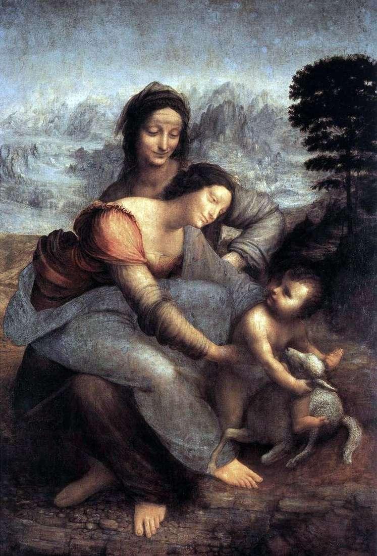 آنا المقدسة ومريم مع الطفل المسيح   ليوناردو دافنشي