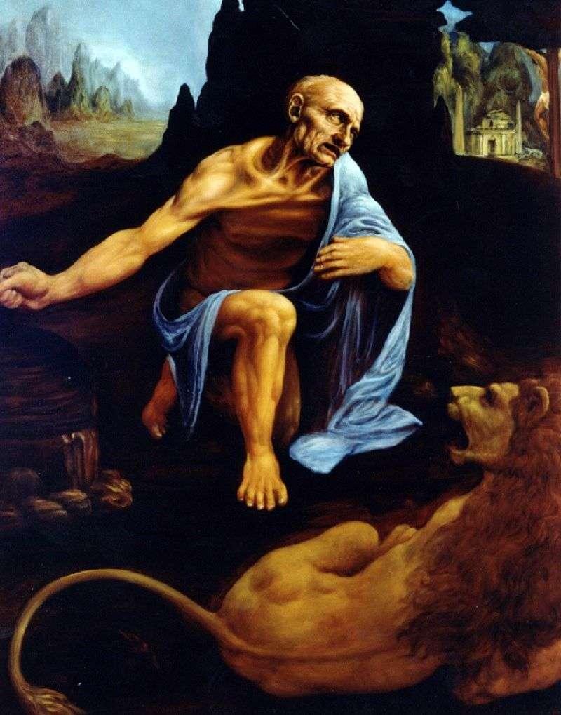 القديس جيروم   ليوناردو دافنشي