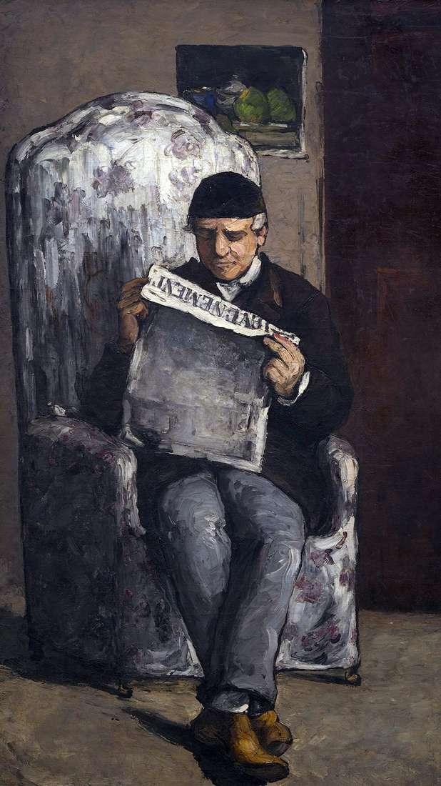 صورة لويس أوغست سيزان ، والد الفنان ، يقرأ إيفنمان   بول سيزان