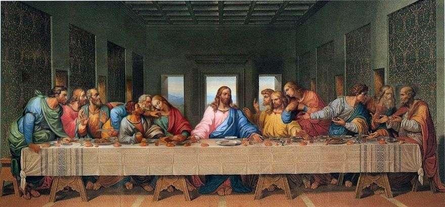 العشاء الأخير   ليوناردو دافنشي