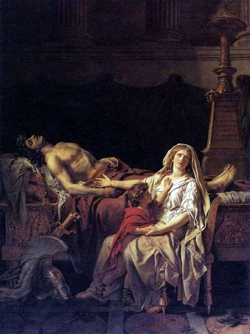 أندروماش في جثة هيكتور   جاك لويس ديفيد
