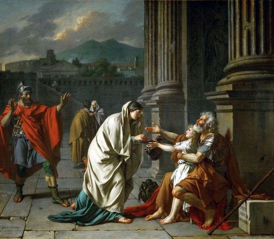 Belisarius التسول   جاك لويس ديفيد