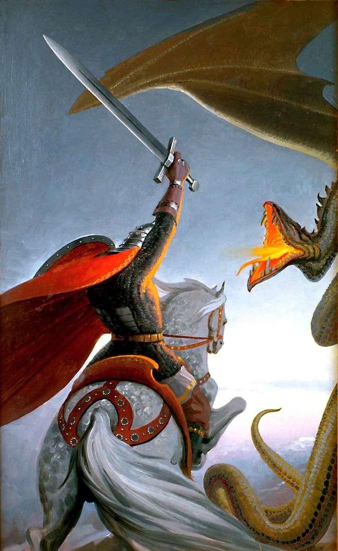 معركة دوبرنيا مع الثعبان   كونستانتين فاسيلييف