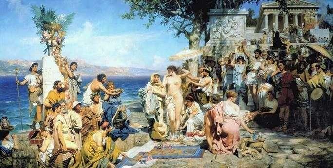 Phryne على عيد بوسيدون في Eleusis   هاينريش Semiradsky