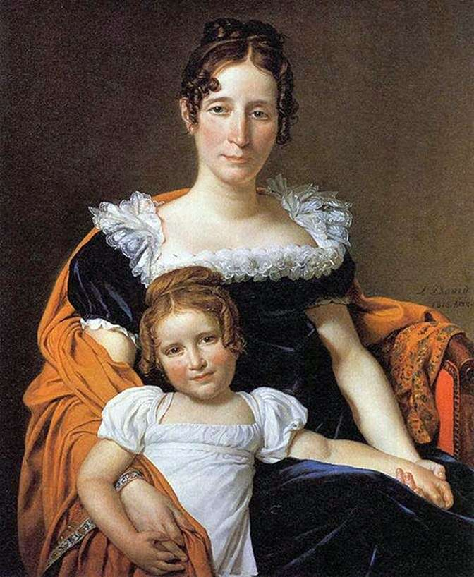 Kontessa Vilein الثاني عشر مع ابنتها   جاك لويس ديفيد