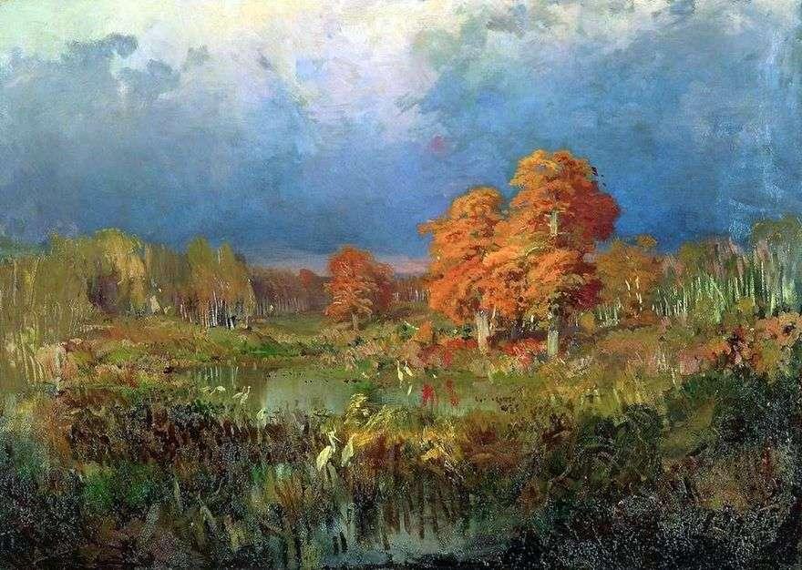 مستنقع في الغابة. الخريف   فيدور فاسيلييف