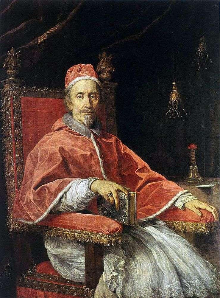 صورة البابا كليمنت التاسع   كارلو ماراتا