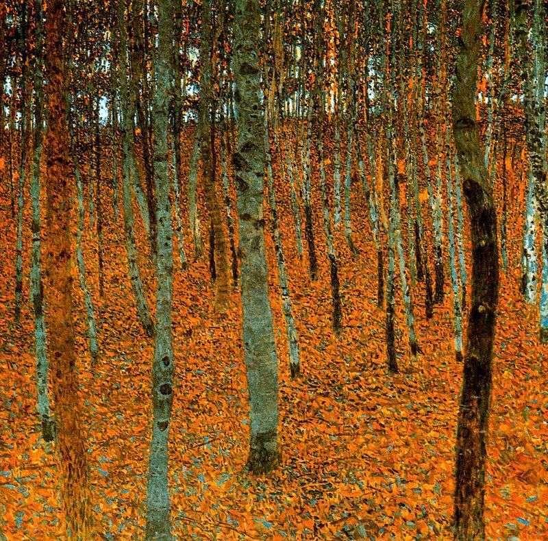 غابة البتولا   غوستاف كليمت