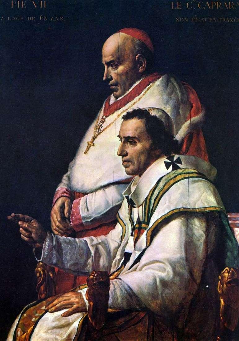 البابا بيوس الثاني والكردينال كابارا   جاك لويس ديفيد