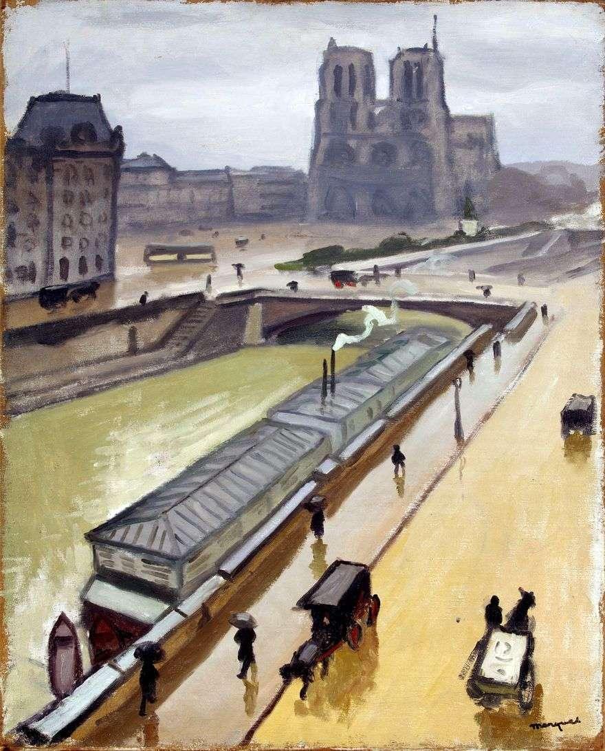 يوم ممطر في باريس. نوتردام   ألبرت ماركيه
