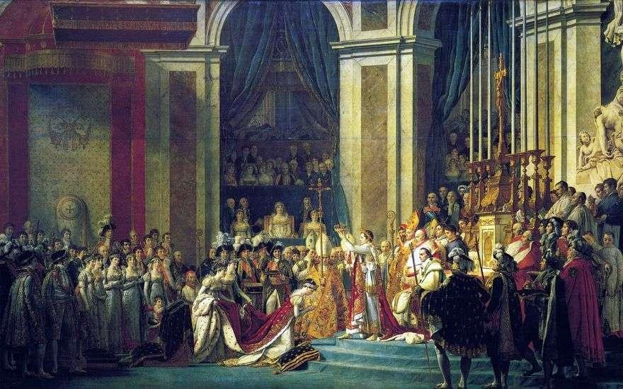 دهن نابليون الأول وتتويج جوزفين   جاك لويس ديفيد