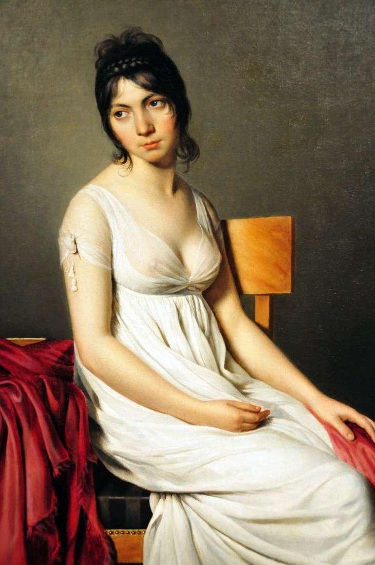 صورة لجيوفانا دونا باللون الأبيض   جاك لويس ديفيد