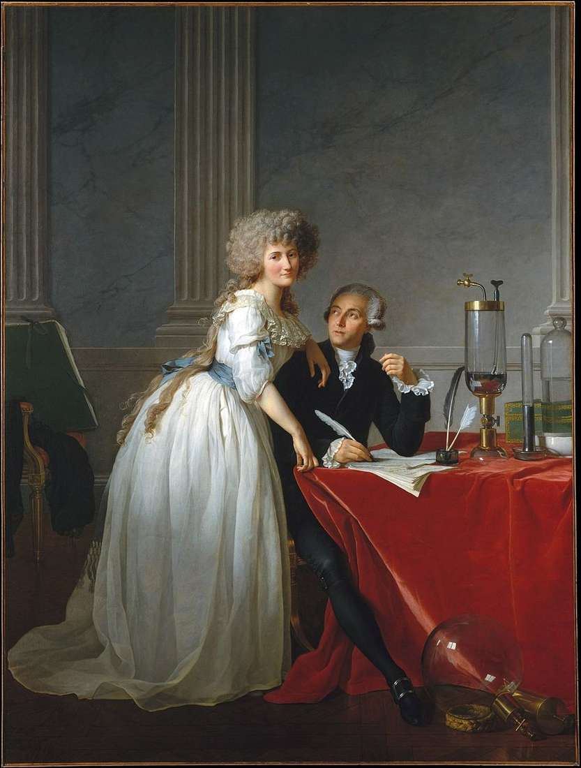 صورة لافوازييه وزوجته ماري آن   جاك لويس ديفيد