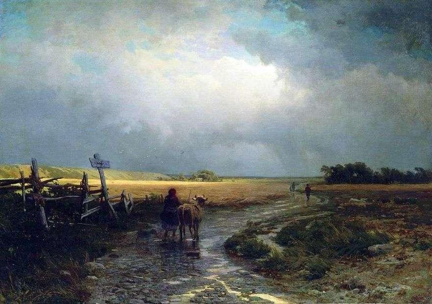 بعد المطر. طريق البلد   فيدور فاسيلييف