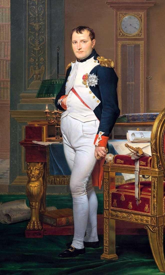 صورة لنابليون في المكتب الإمبراطوري   جاك لويس ديفيد