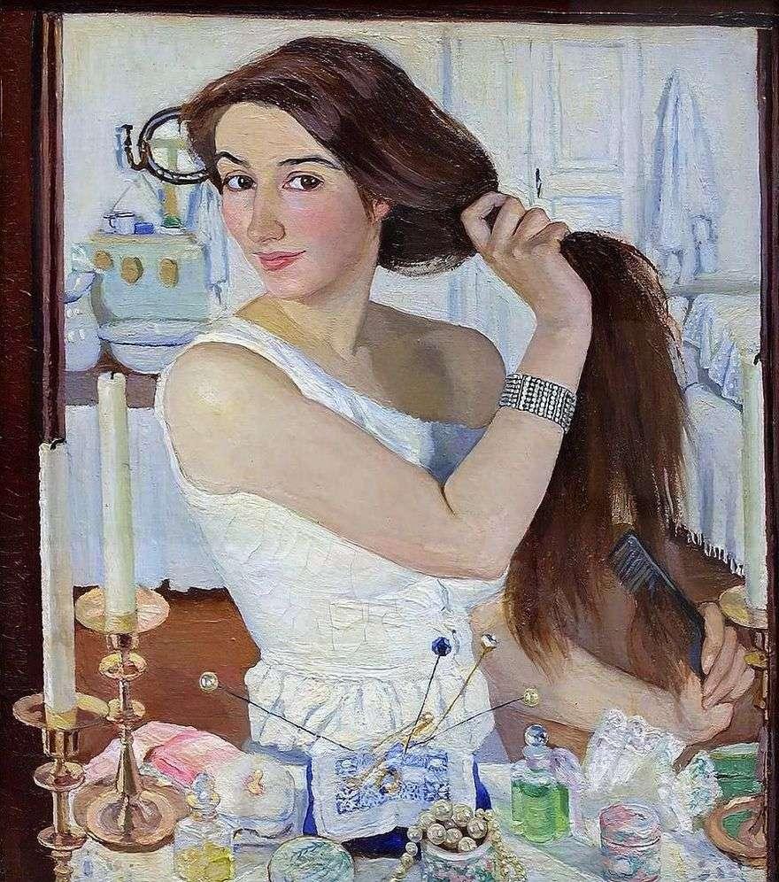صورة ذاتية (وراء المرحاض)   Zinaida Serebryakova