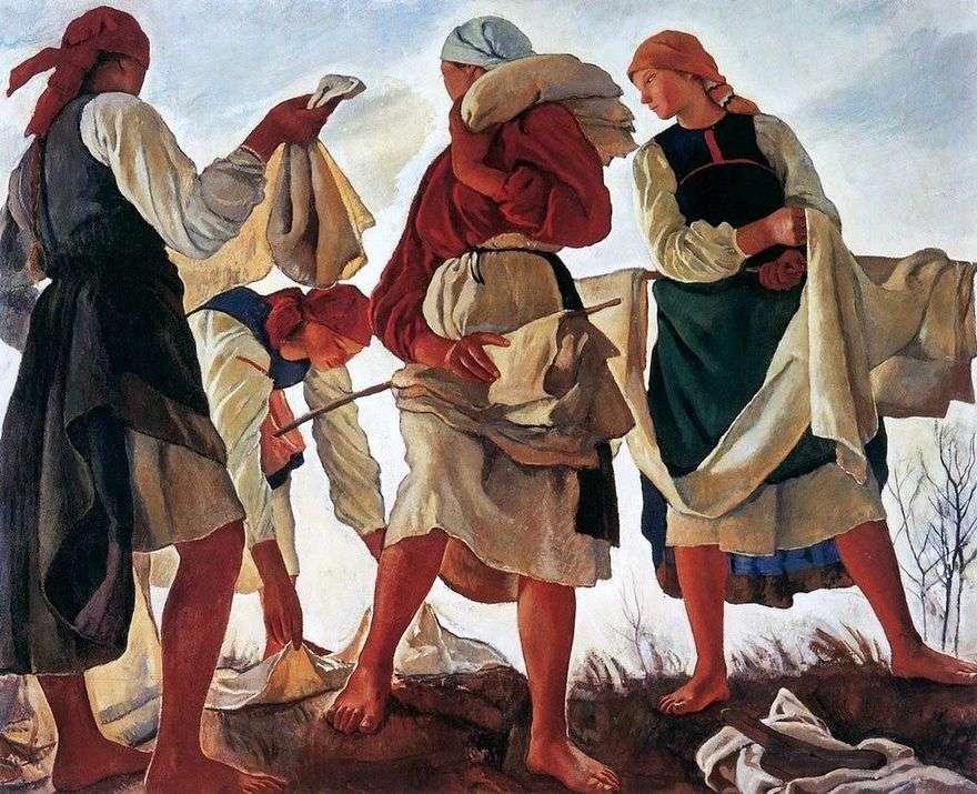 قماش التبييض   Zinaida Serebryakova
