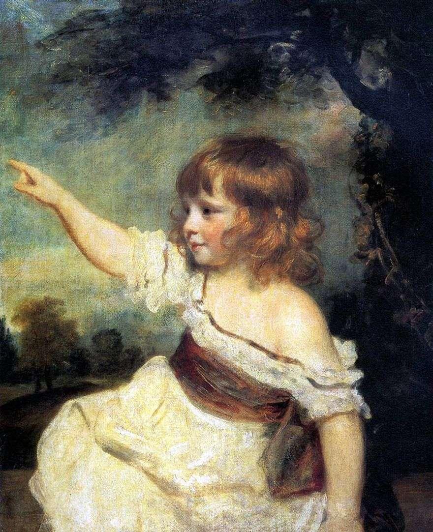 صورة لسيدة جونز كطفل   جوشوا رينولدز