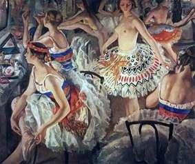 في غرفة ملابس الباليه (Great Ballerinas)   Zinaida Serebryakova