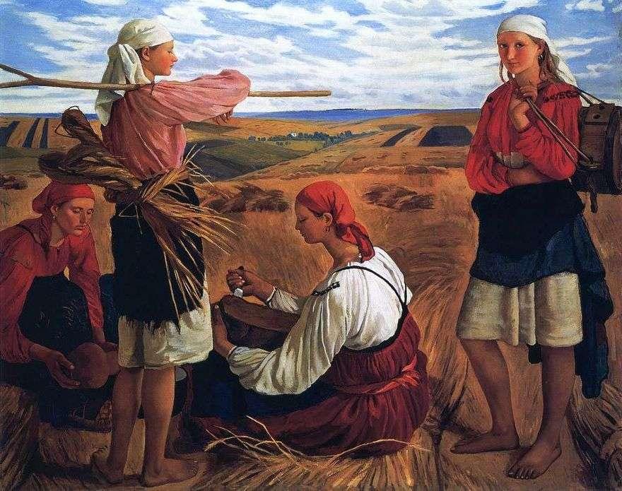 الحصاد   Zinaida Serebryakova