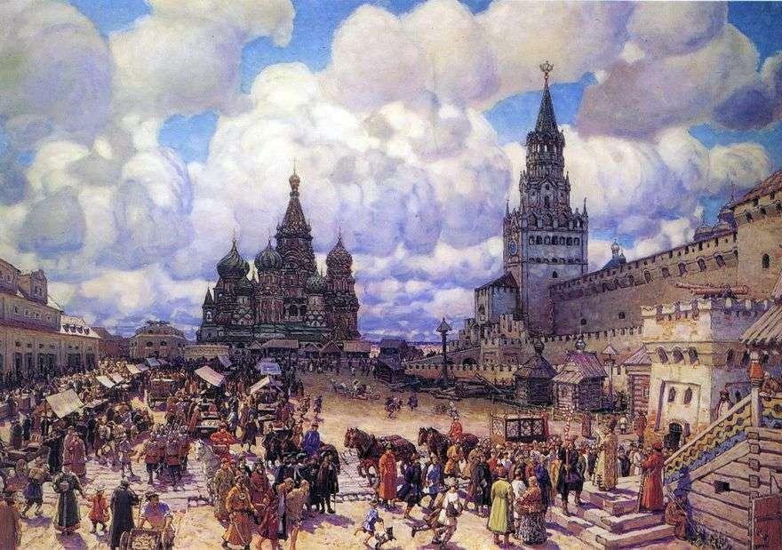 الساحة الحمراء في النصف الثاني من القرن السابع عشر   Apollinary Vasnetsov
