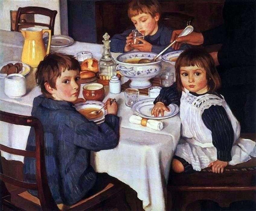 في وجبة الإفطار   Zinaida Serebryakova