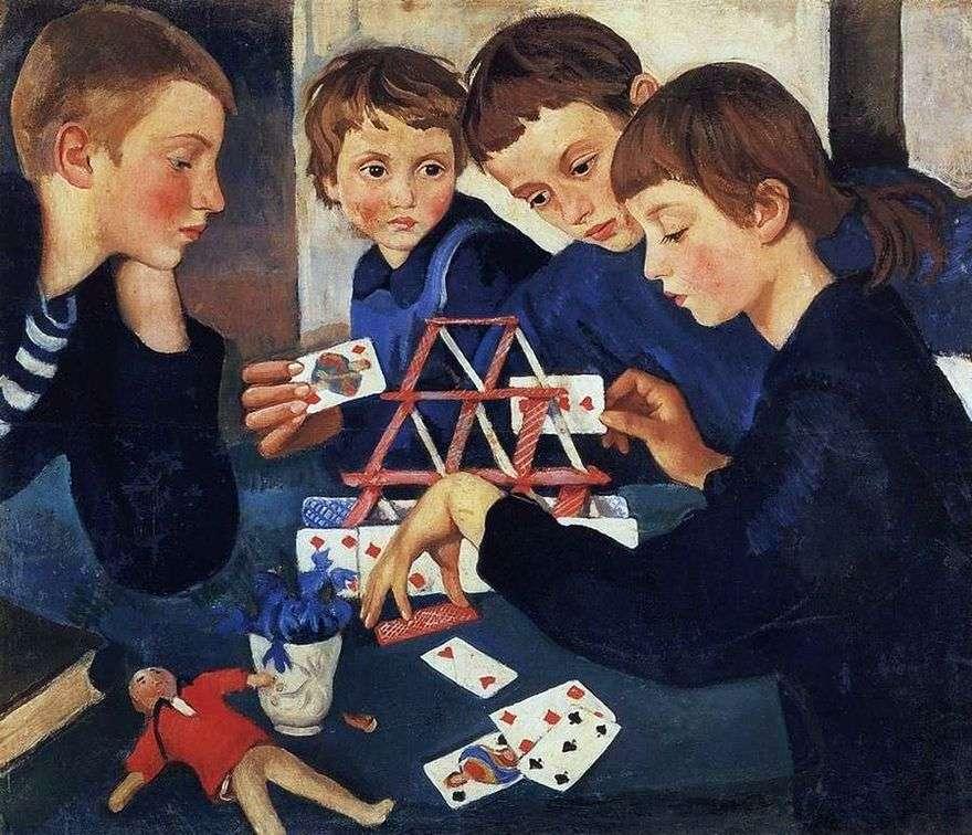 بيت البطاقات   Zinaida Serebryakova