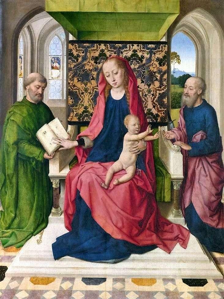 مادونا والطفل على العرش مع القديسين بطرس وبولس   ديرك بوتس