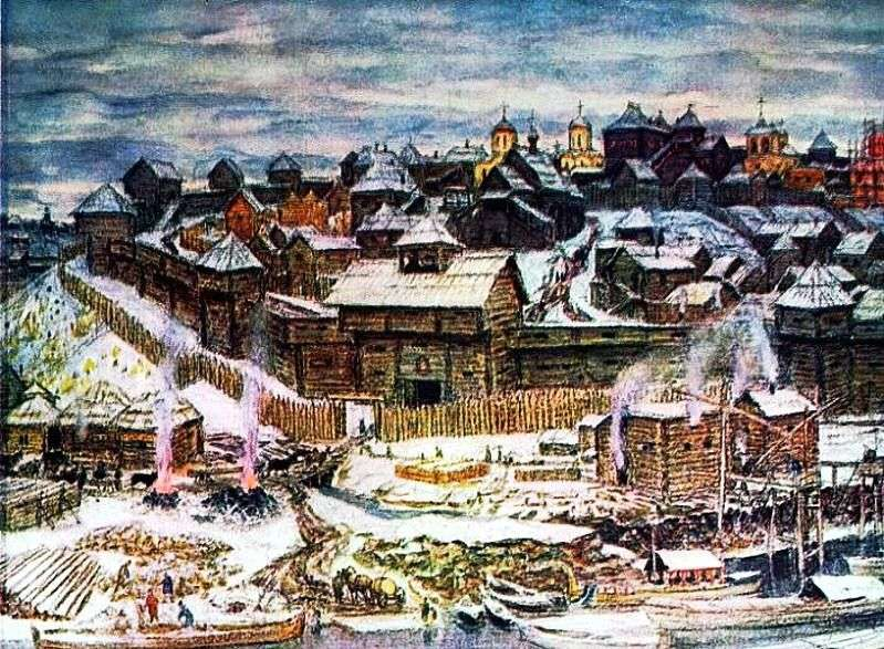 موسكو الكرملين تحت إيفان كاليتا   Apollinary Vasnetsov