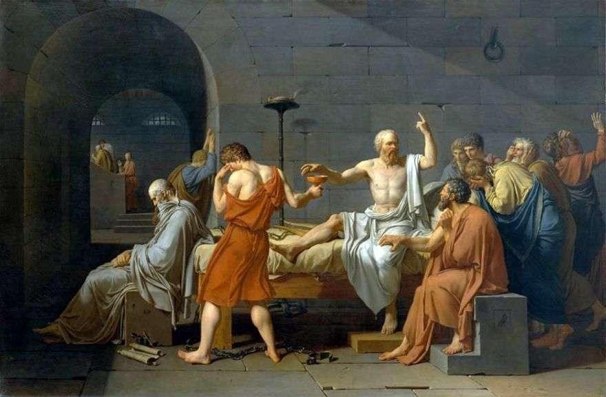 موت سقراط   جاك لويس ديفيد
