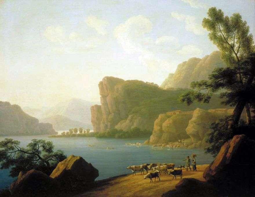 منظر لنهر سيلينغا في سيبيريا   أندريه مارتينوف