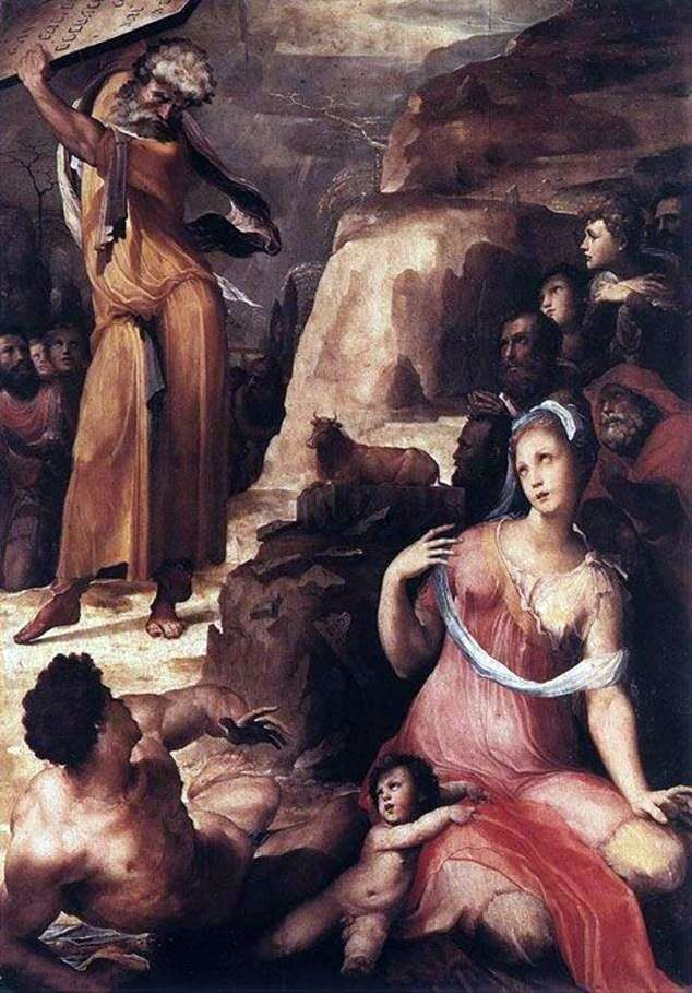 موسى والعجل الذهبي   دومينيكو بيكافومي