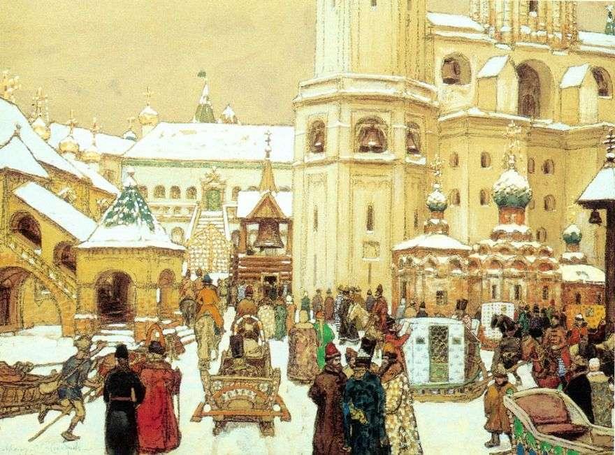 إيفان ذا غريت سكوير في الكرملين. القرن السابع عشر   Apollinary Vasnetsov