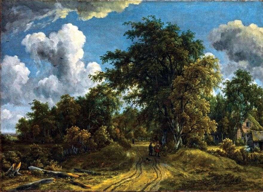 الطريق إلى الغابة   Meindert Hobbema