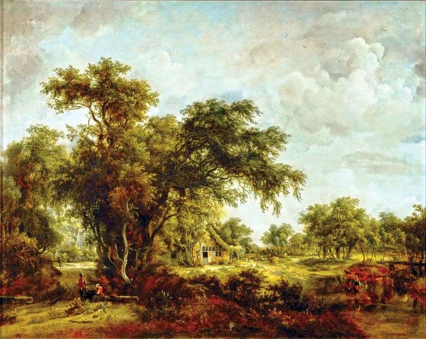 مزرعة المناظر الطبيعية   Meindert Hobbema