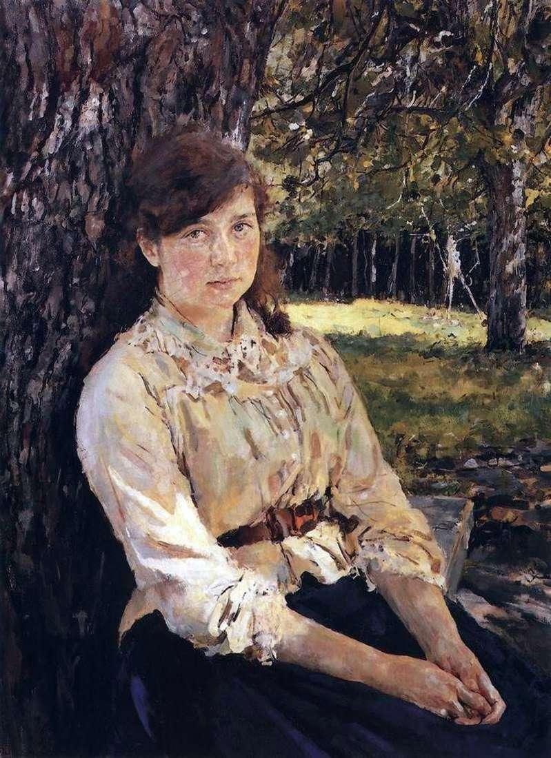 فتاة مضاءة بالشمس (صورة السيد يا سيمونوفيتش)   فالنتين سيروف
