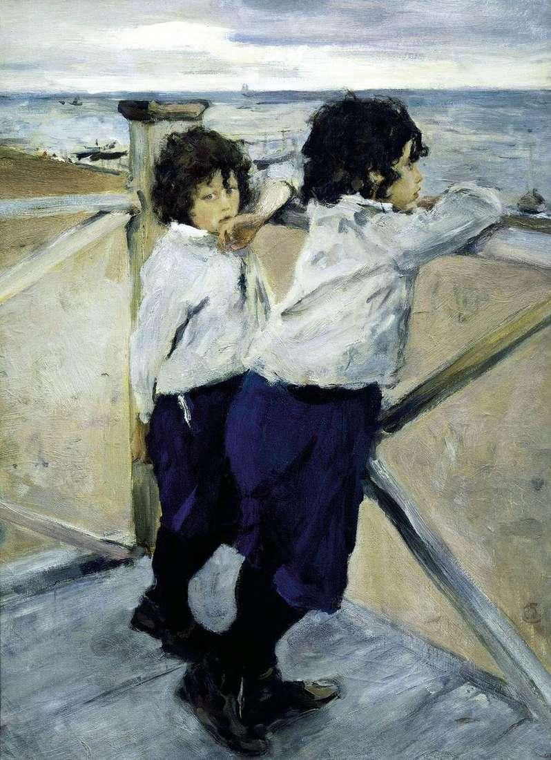 أطفال على شاطئ البحر (ساشا ويورا سيروف)   فالنتين سيروف