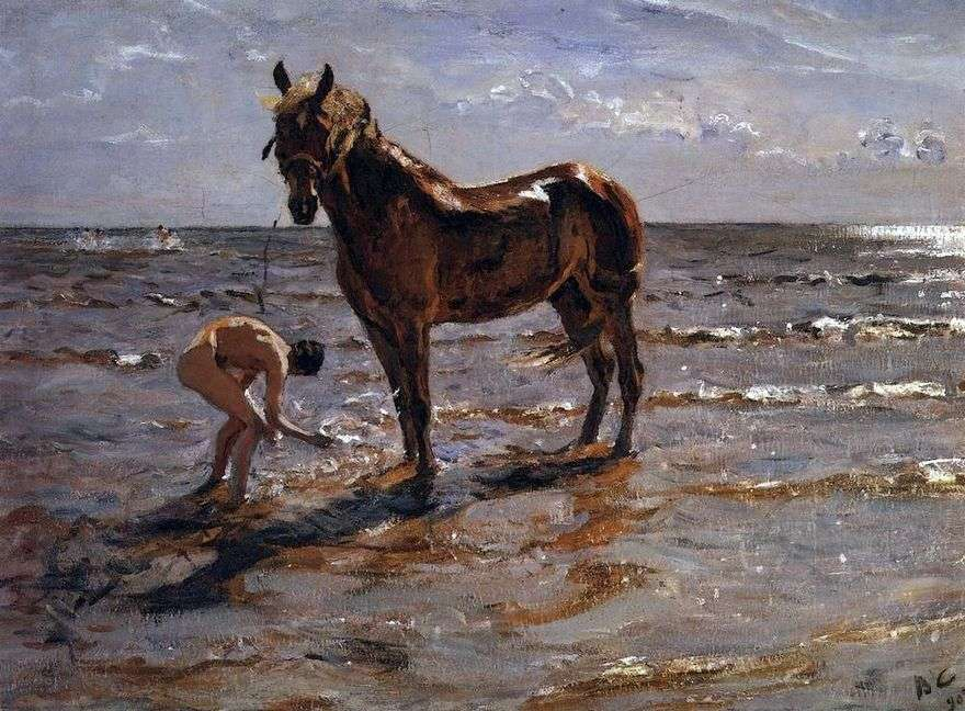 الاستحمام حصان   فالنتين سيروف