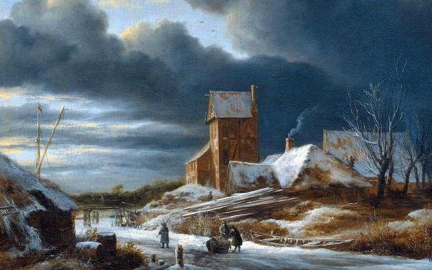 منظر للطبيعة الشتاء   Jacob van Ruysdal