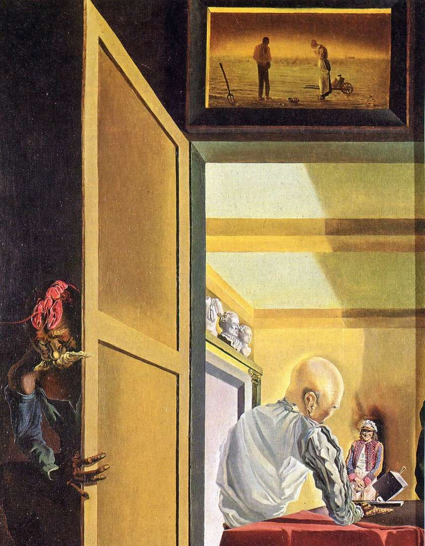 حفل و Angelius الدخن قبل ظهور صورة مخروطية الشكل   سلفادور دالي