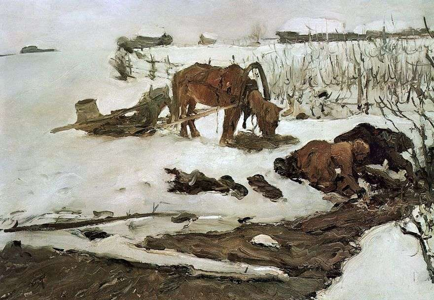 شريط الكتان (على النهر)   فالنتين سيروف