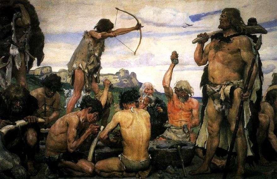 العصر الحجري   فيكتور Vasnetsov