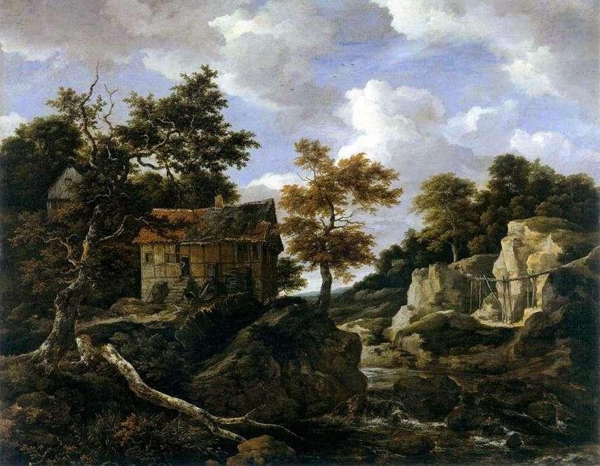 غروب المناظر الطبيعية   يعقوب فان Ruisdal