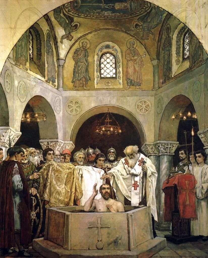 معموديه الامير فلاديمير   فيكتور Vasnetsov