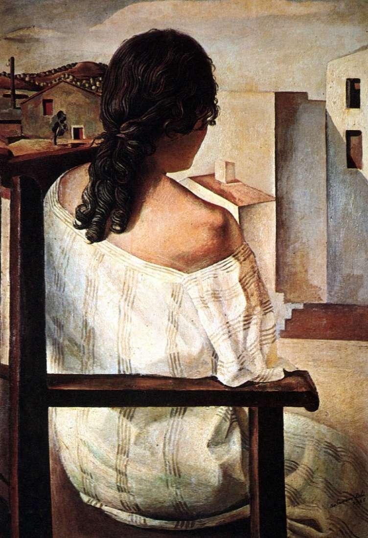 فتاة تجلس   سلفادور دالي