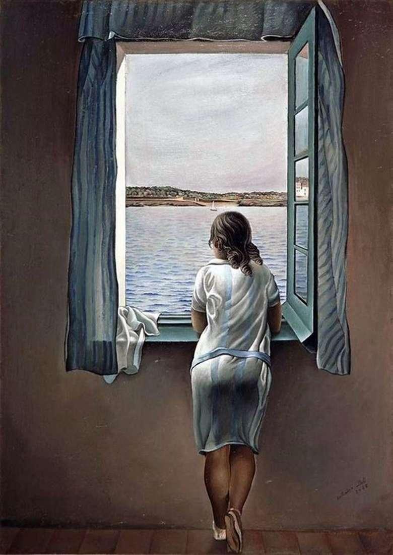 الفتاة عند النافذة   سلفادور دالي